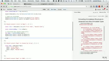 js tutorial about Converting Immutable.js Structures to Javascript and other Immutable Types