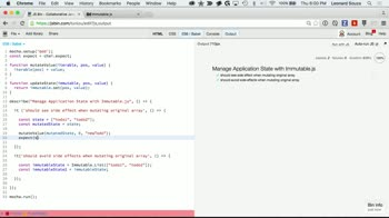 js tutorial about Manage Application State with Immutable.js